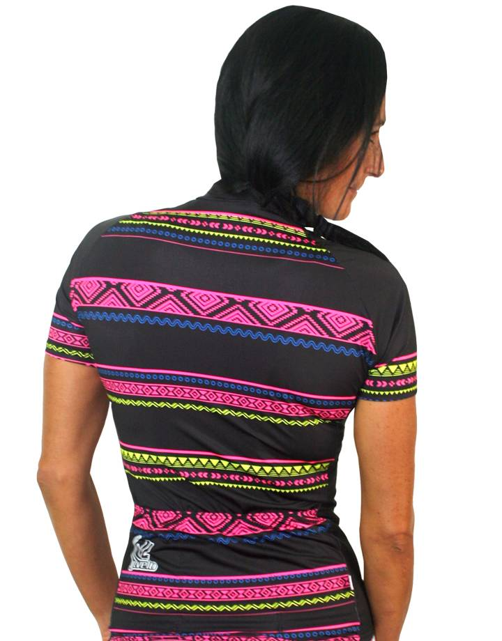 Women's Team Stretch Jersey : Tribal Collection : Black