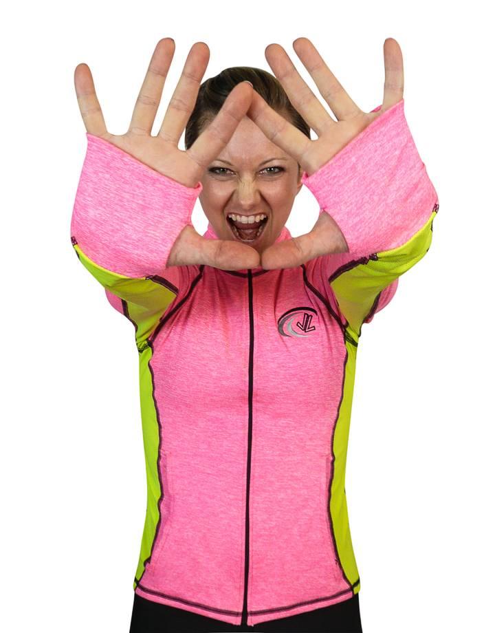 River Jacket : Pink Flek / Hi-Viz
