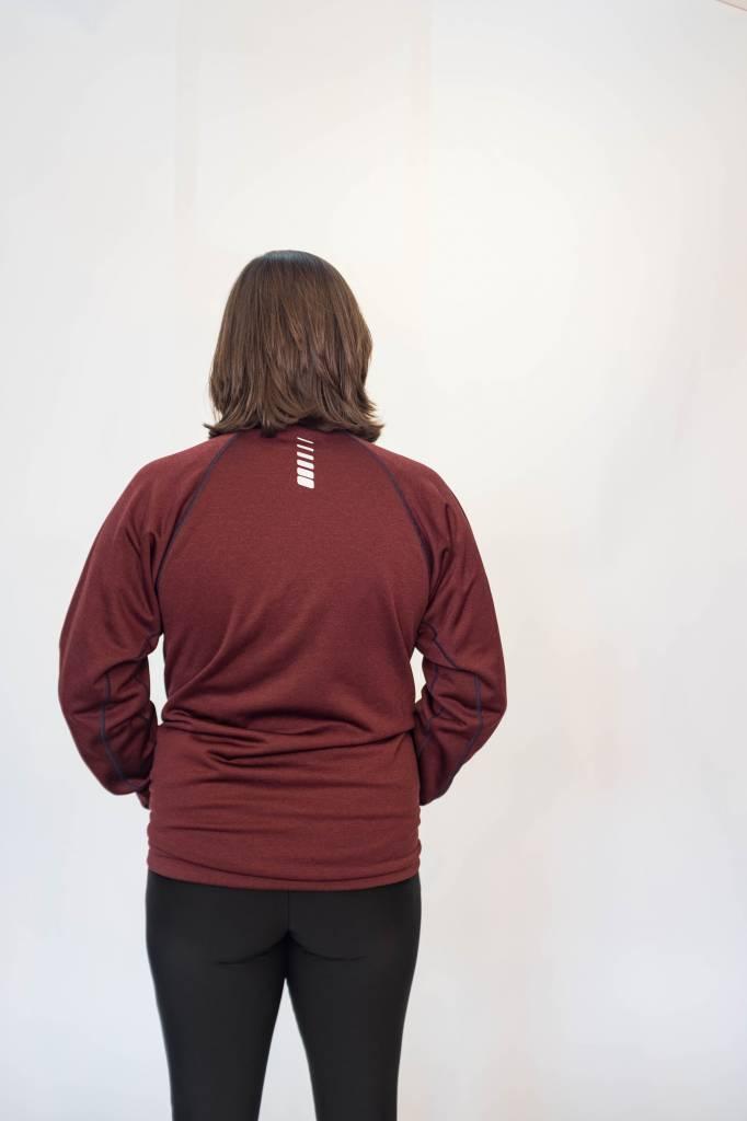 Pocketed Podium Jacket : Maroon