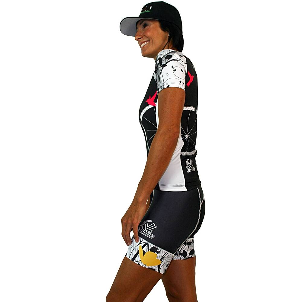Women's Team Ringer Bibshorts : Birds Collection : Black