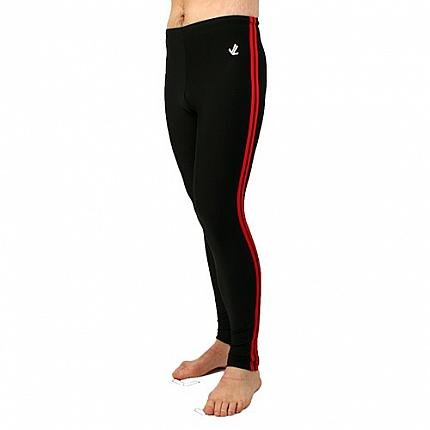 Polypro Double Speed Stripe Tights : Black / Red