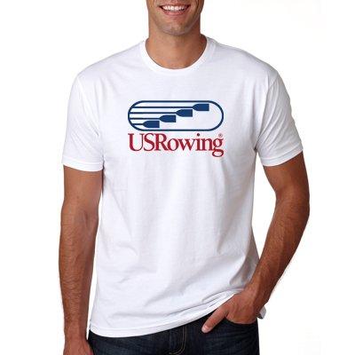 USRowing Men's SS Tee White