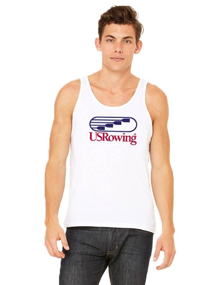USRowing Men's Tank White