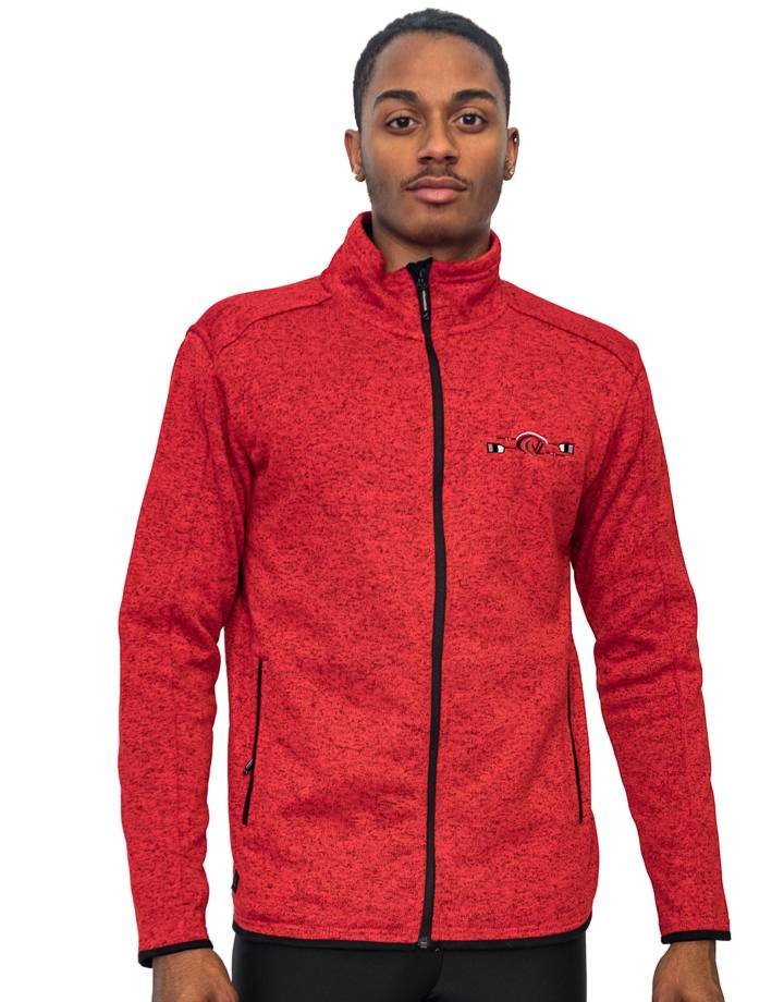 Men's Donegal Full Zip Jacket : Red Heather