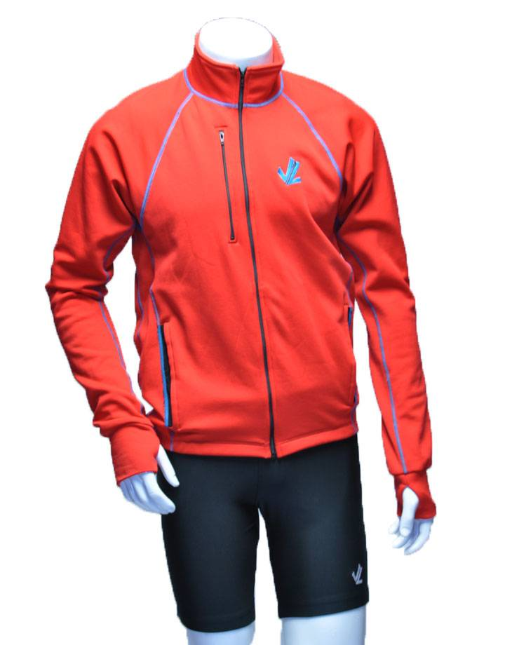 Pocketed Podium Jacket : Red