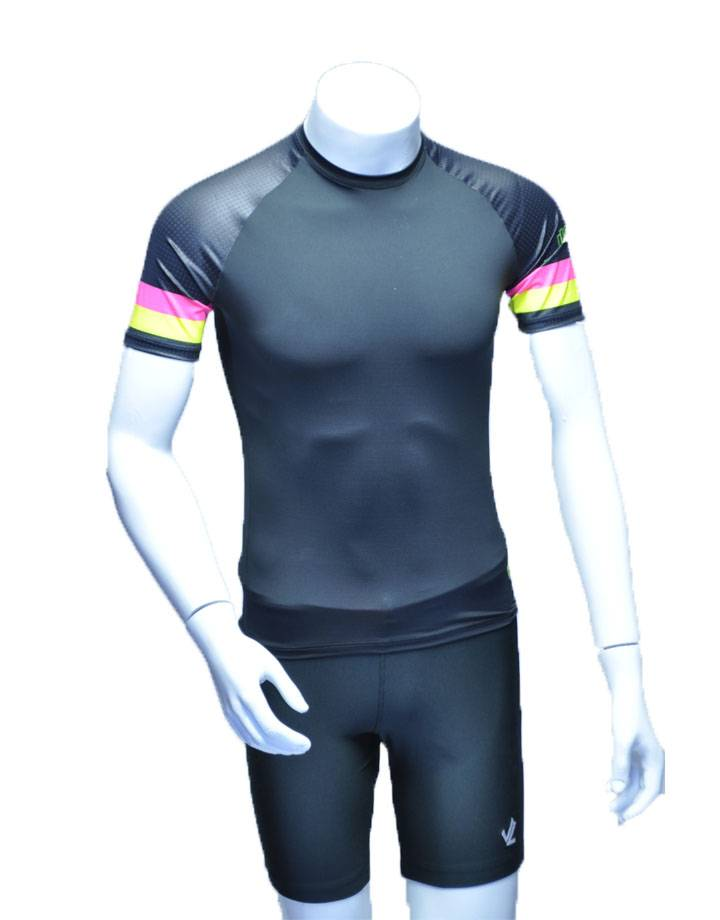 Short Sleeve Tech Shirt: Flamingo