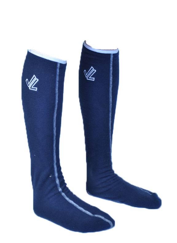Fleece Socks : Navy / White Binding