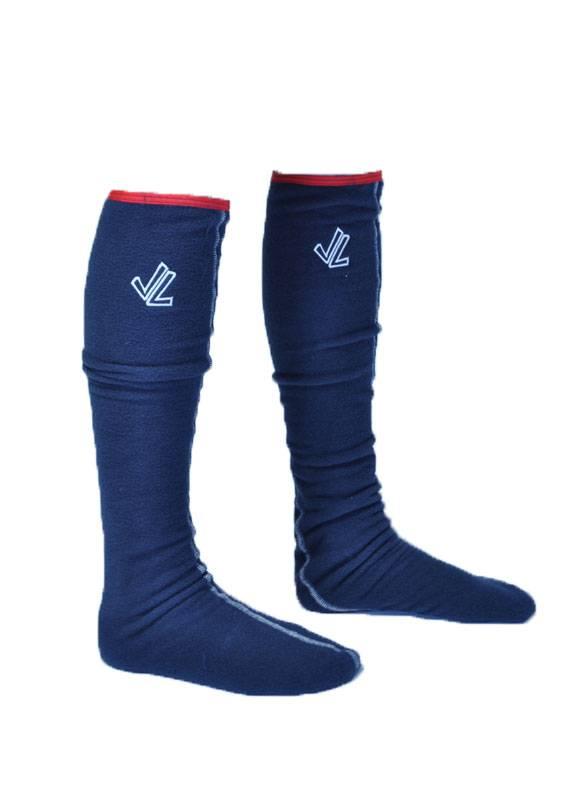 Fleece Socks : Navy / Red Binding