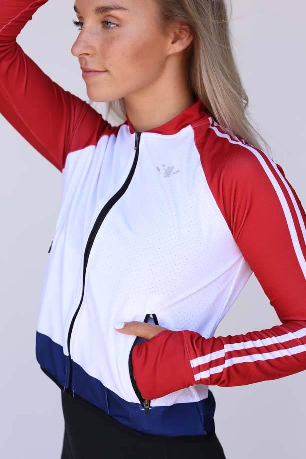USRowing Women's Mesh Crop Jacket White