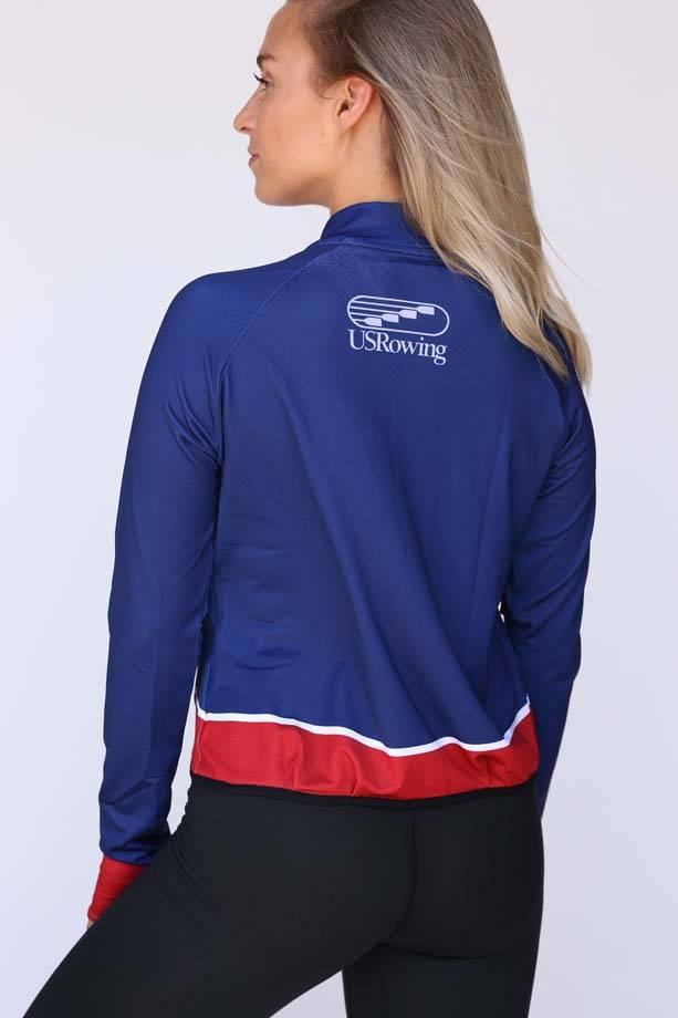 USR Women's Mesh Crop Jacket Navy