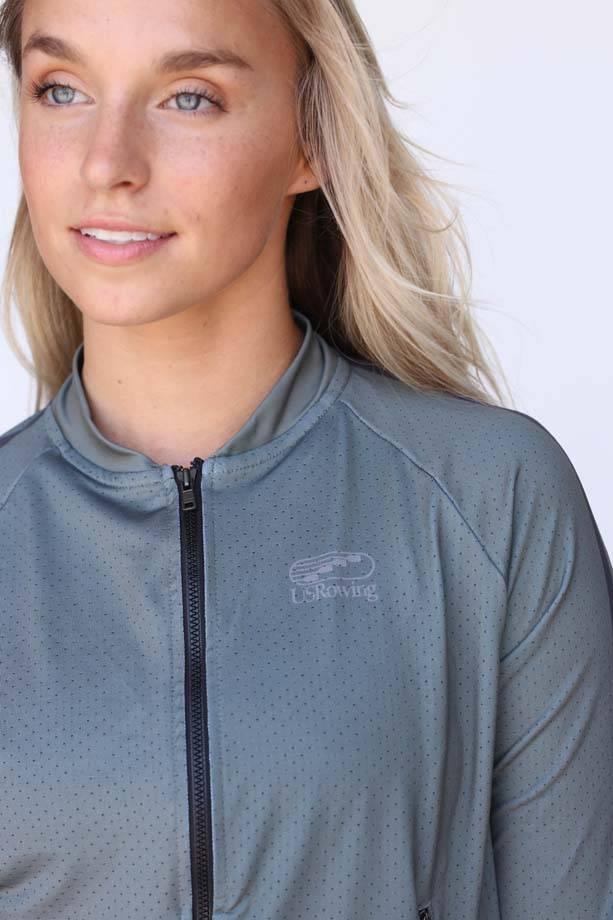 USR Women's Mesh Crop Jacket Green