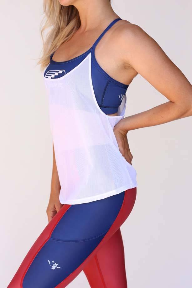 USRowing  Women's Capri Red/Blue