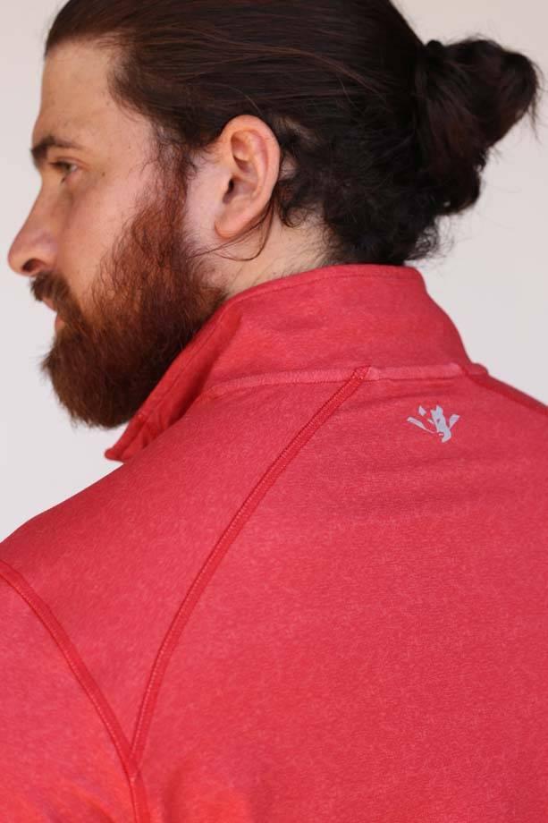 USRowing  Men's Performance Quarter Zip Red