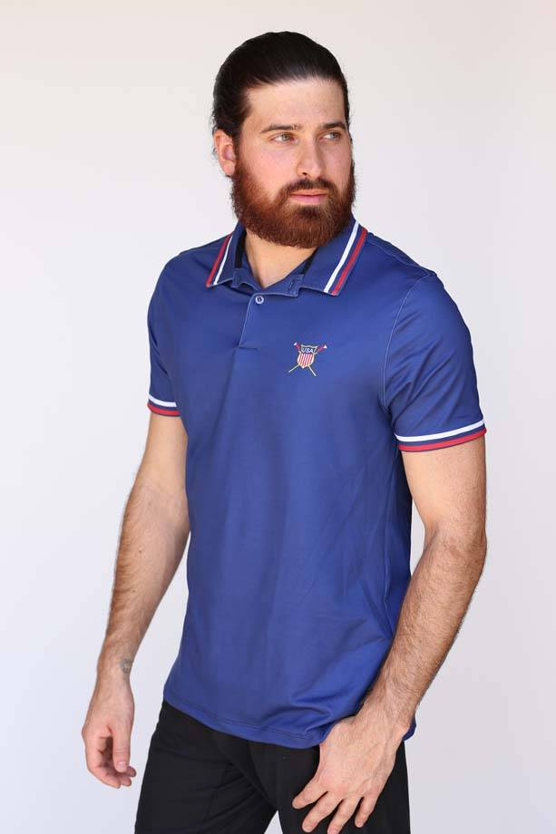 USR Men's Performance Polo Navy