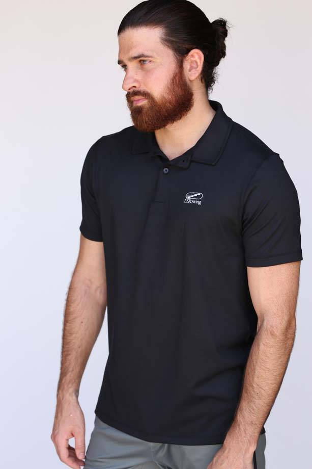 USRowing Men's Performance Polo Black