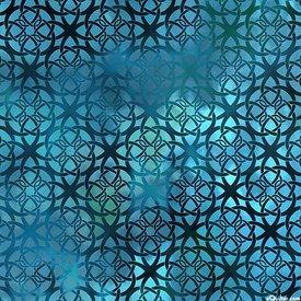 JY - Diaphanous - Turquoise Trellis (7ENC3)