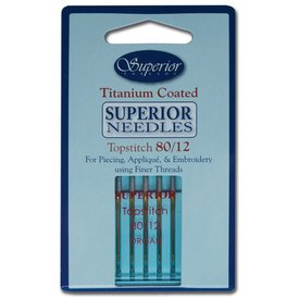 Superior - Titanium Topstitch Needles - 80/12