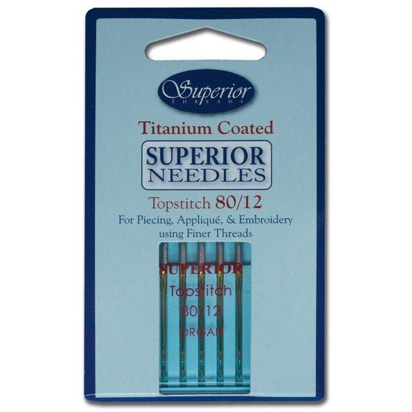Superior - Titanium Topstitch Needles - 80/12