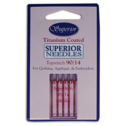 Superior - Titanium Topstitch Needles - 90/14