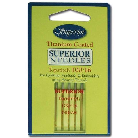 Superior - Titanium Topstitch Needles - 100/16