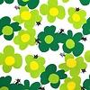 JC01 - Green Flower Cats