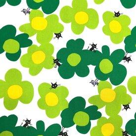JC01 -  Canvas /  Green Flower Cats