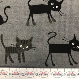JC05 - Crazy Cats - Grey