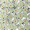 JD03 - Mini Dogs - Line Art / Green