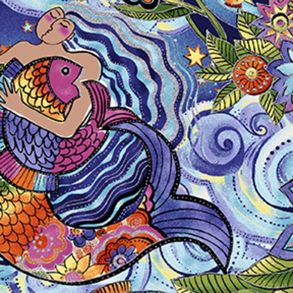Clothworks - Sea Goddess  /  y2598-84m