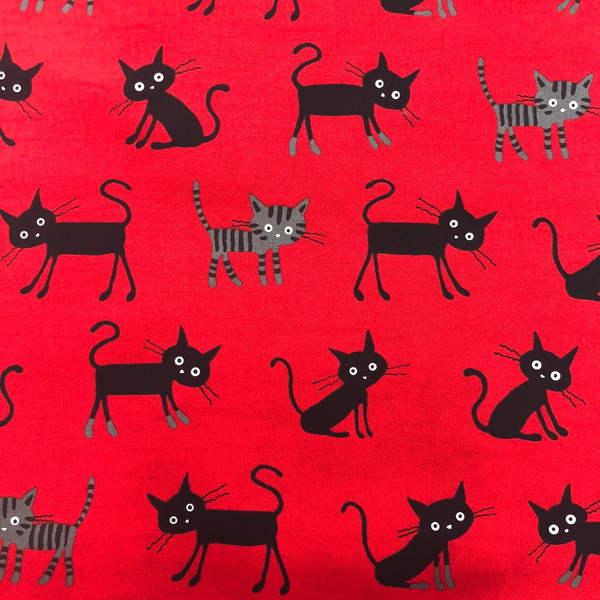 JC04 - Crazy Cats - Red