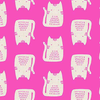 Andover - Cats and Dogs / A-8966-E / Cats / Hot Pink