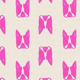 Andover - Cats and Dogs / A-8965-E / Frenchies / Hot Pink