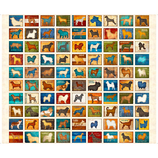 QT / Love Dogs / 26935 -E / 36x44 inch Panel