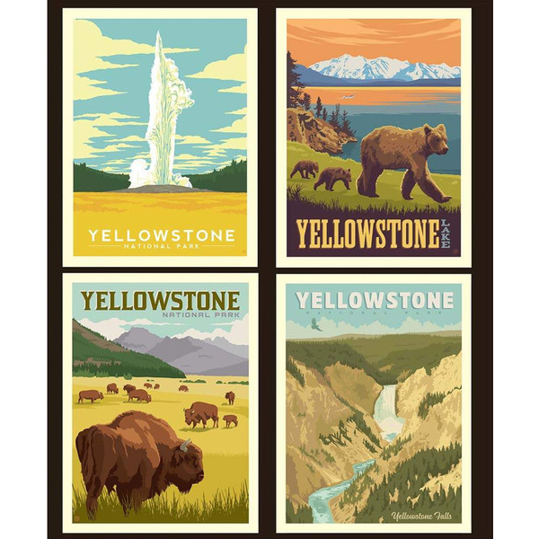 RB - National Park Pillow Panel - YELLOWSTONE