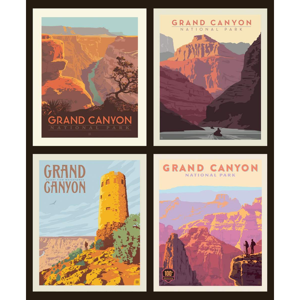 RB - GRAND CANYON -  National Park Pillow Panel