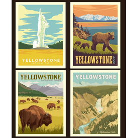 RB - YELLOWSTONE - National Park Pillow Panel