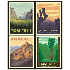 RB - CALIFORNIA -  National Park Pillow Panel