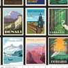 RB - MINI BLACK POSTER - National Park Posters