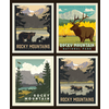 RB - ROCKY MOUNTAINS - National Park Pillow Panel