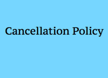 Workshop Cancellation Policy
