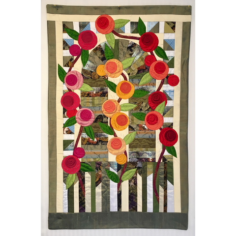 Class - Rambling Rose / Applique (3/3) by Silk and Salvage