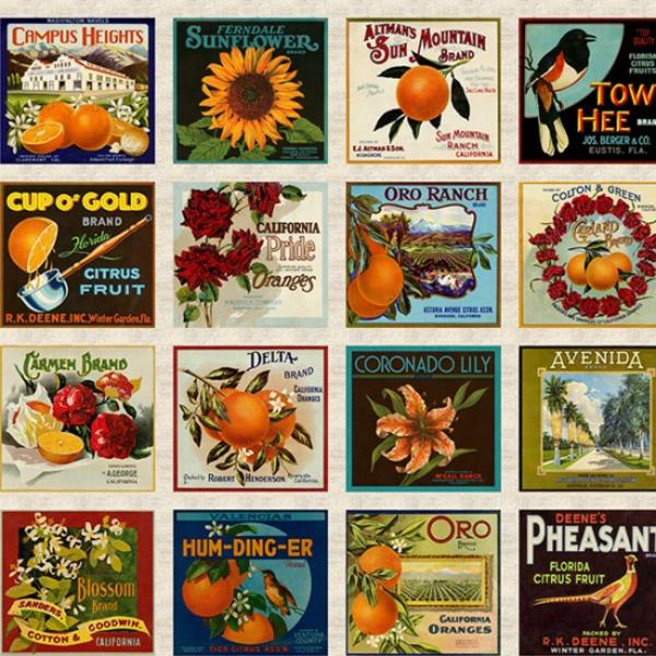 H - R4682-116-Harvest Vintage Poster Panel