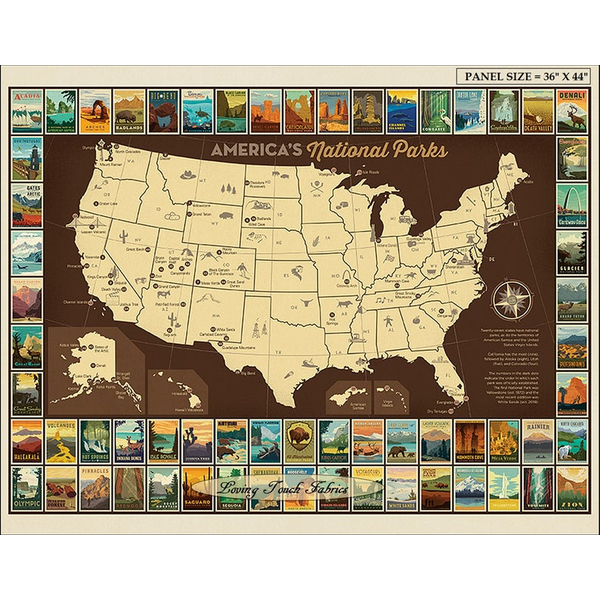 RB - United States National Park Map - Full Map & Mini Posters