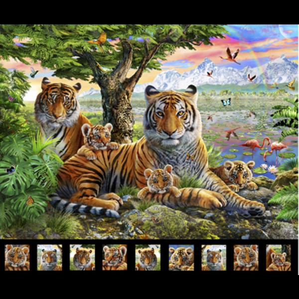 QT - Tiger Panel  / Artworks 27518 -X