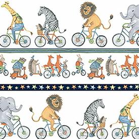 Clothworks - Bike Ride - Y2856-1 Stripe