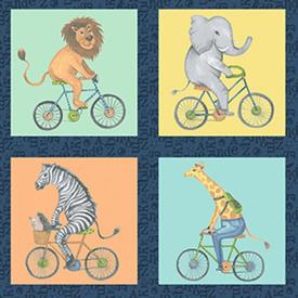 Clothworks - Bike Ride - Y2855-55 Panel