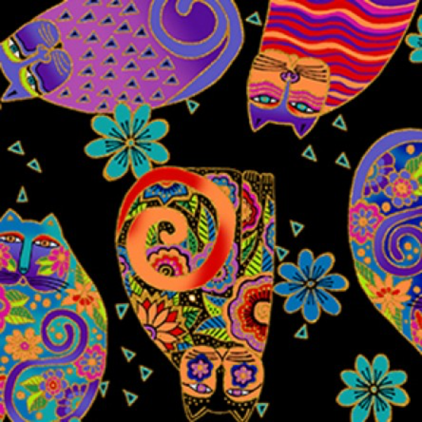 Clothworks - LAUREL BURCH - Feline Frolic - Y2799-3M