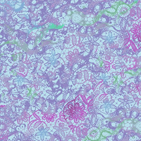 Clothworks - Groovy Girls - Flowers - Y2615-85 PURPLE