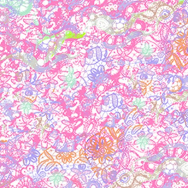 Clothworks - Groovy Girls - Flowers -Y2615-74 PINK