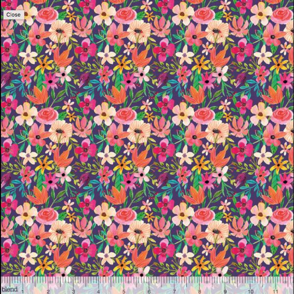 Mia Charro - Floral Mixture Plum / 129.104.02.2